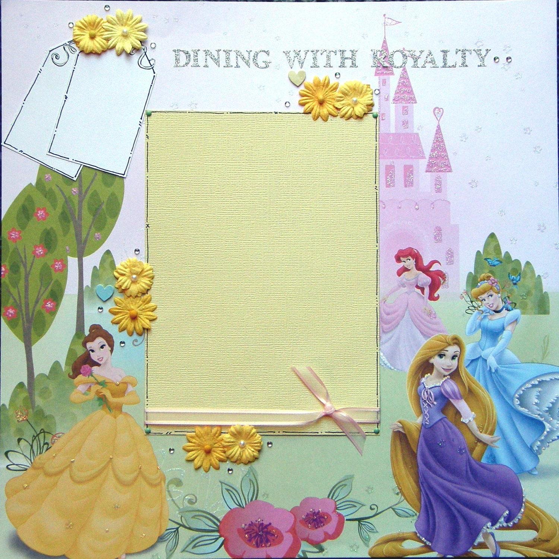 Disney scrapbook ideas -  Scrapbook Layout Disney S Princesses Dining With Royalty Zoom
