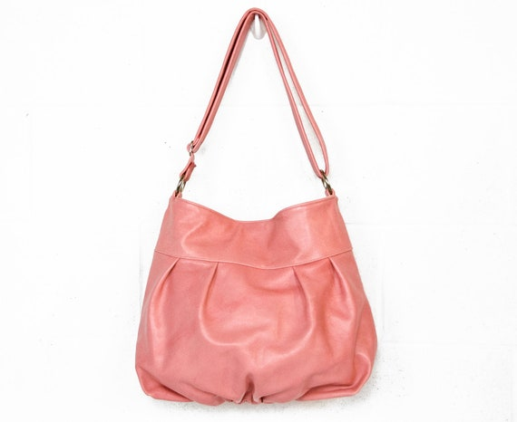 Baby Ruche Bag in Blush Rose Pink Leather - Ready to Ship