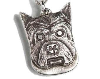 Westie Necklace Jewelry Sterling Silver Dog Pendant Personalized West Highland White Terrier