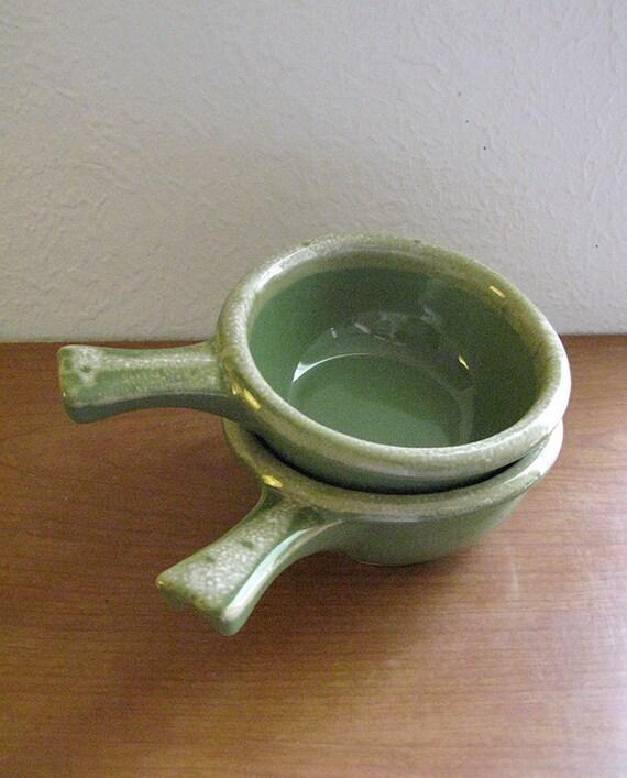 Vintage Green Hull Pottery Soup Crocks Or By Adornedinstring