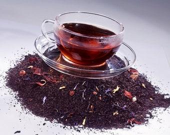 Tea Black Currant Black Loose Leaf Hand Blended Tea 4 ounces