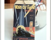 Chicago Worlds Fair Luggage Tag
