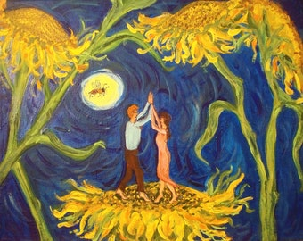 Print, Dancing On Sunflowers