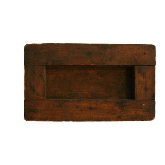 Antique Primitive Wood Storage Box