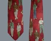 Vintage 80s Polo Silk Tie Palm Beach Fashion Novelty Print