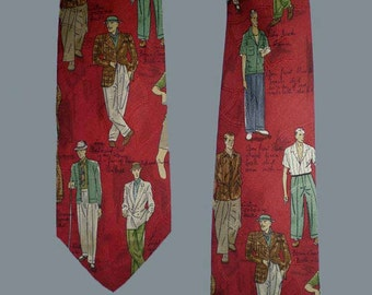 Vintage 80s Polo Silk Tie Palm Beach Fashion Novelty Print