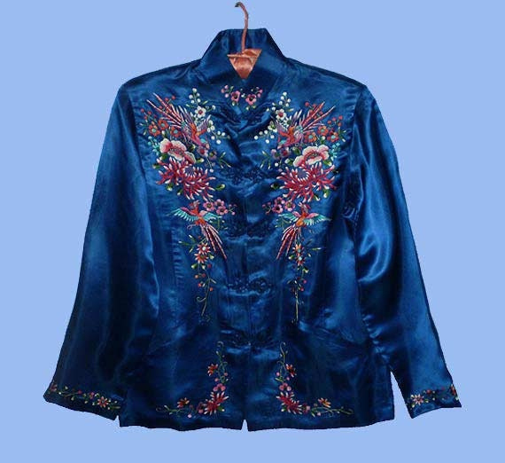 Vintage s chinese embroidered silk jacket