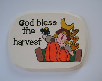 SALE - God bless the harvest - Christian/Inspirational wall hanging