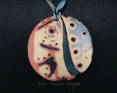 Mokume Gane Necklace, Polymer Clay