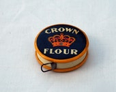 reserved for nazimcolak, antique1900s crown flour and golden rod cereals, double sided early celluloid tape measure