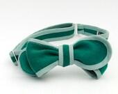 billiard felt bow tie- grey green