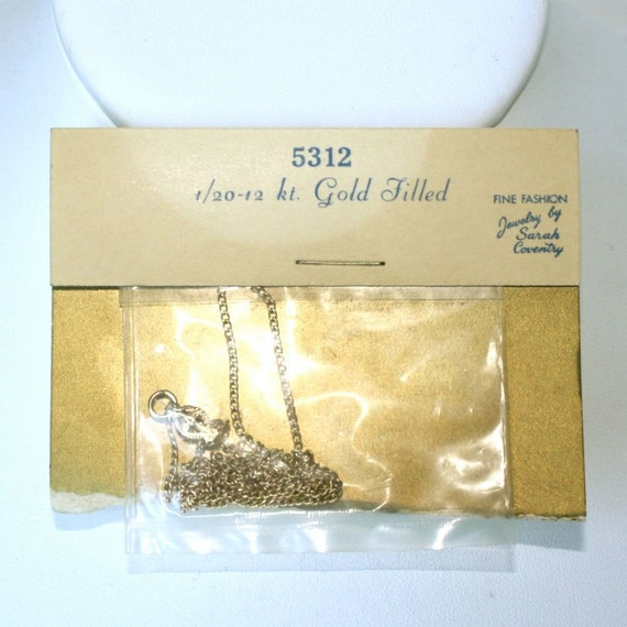 Sarah Coventry Gold Filled Chain NOS