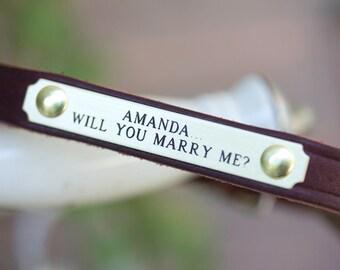 Wedding Dog, Bridal Dog, Engagement Dog Collar, Will You Marry Me