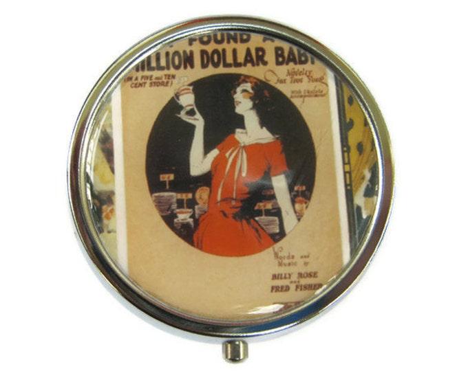 Million Dollar Baby Pill Box Stash Case Silver