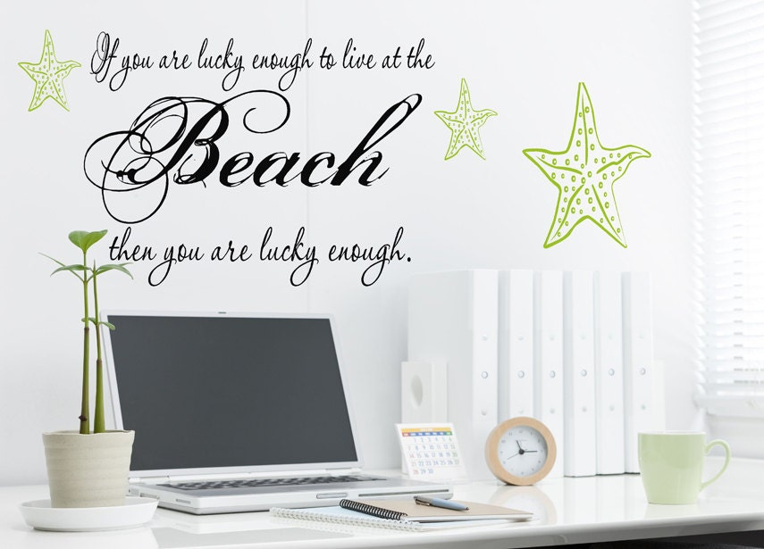 Wonderful Wall Words Decal If You Are Lucky Enough To Live By