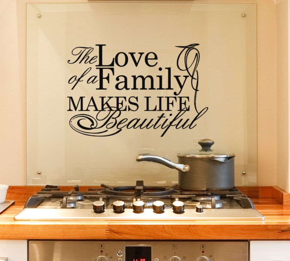 Wall Decals Quotes: Family Wall Decal Quote The Love Of A Family Makes Life