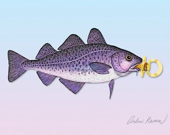 Cape Codling (baby cod) 5x7 giclee print