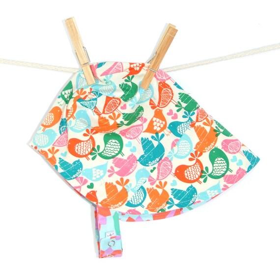 UB2  POP PEEP a warhol-style pop-art & sweet tweet peeps summer sun hat by The Urban Baby Bonnet-- size medium