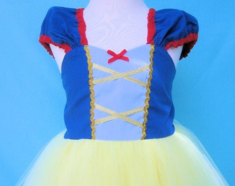 SNOW WHITE TUTU dress style princess costume in large sizes 7/8 8/10 10/12