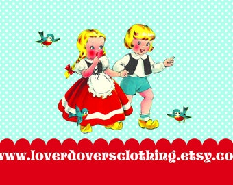 kids QUEEN Of HEARTS dress  .... Retro 50s apron costume full aprons for children dress up