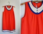 Vintage 60's Red Mod Nylon Babydoll Nightie by Vanity Fair