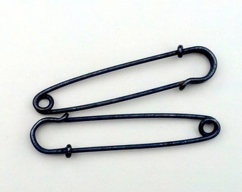 6 Antiqued Silver-plated 2-inch Kilt Pins