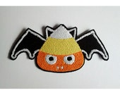Sew on PATCH CAndy Corn Bat Pocket full of Posiez(R)