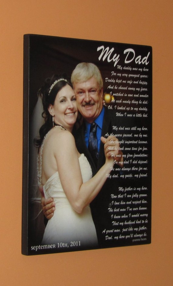 """WEDDING GIFT- First Dance Photo- Father Daughter Dance- Personalized PHOTO Giclee MoUNTED prints- custom made to order- 13"""" x 19"""""""