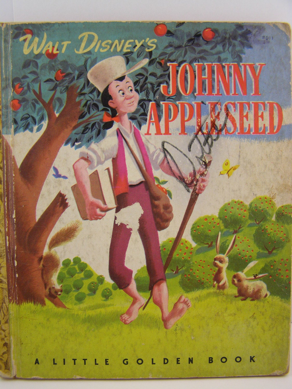 Walt Disney S Johnny Appleseed 1949 Vintage Little Golden