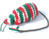 Knit Catnip Mouse Cat Toy is Candy Cane Striped