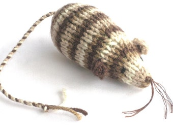 Catnip Mouse Cat Toy is a Brown Striped Tabby Mouse