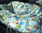 Shopping Cart cover  for boy or girl.....Piccadilly Posies in Cream Shopping cart cover