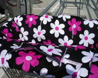 Shopping Cart cover  for girl.....PLAIN JANE Daisy in Fushia..