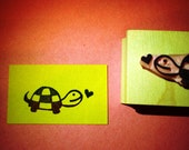 Turtle rubber stamp //hand carved rubber stamp