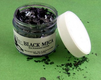 Dark Black Mica Glitter Flakes