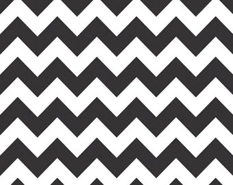 Riley Blake Designs, Medium Chevron in Black (C320 110)