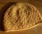 Sunny Yellow Crochet Hat - Child Size Small