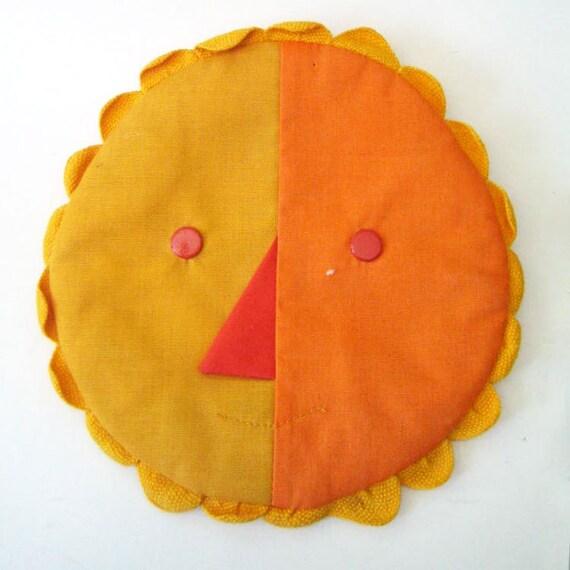 Sun. Vintage handmade potholder.