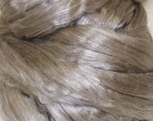 yak silk roving fiber top YAKTASTIC 50 per cent  Yak 50 percent Cultivated Mulberry Silk 8 ounces