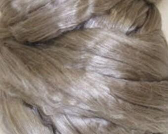 yak silk roving fiber top YAKTASTIC 50 per cent  Yak 50 percent Cultivated Mulberry Silk 2 ounces