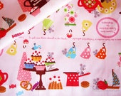 Rat Party   - Japanese cotton fabric(0.5 yard)