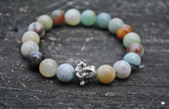 Buddha Mala Amazonite Beads
