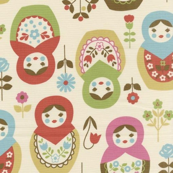 Custom Listing for LittleNecessities: Kokka Trefle Large Matryoshka K20A, 3 yards