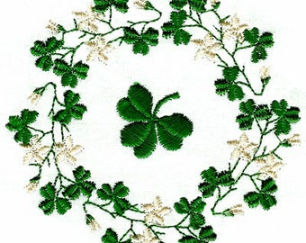 SHAMROCK BORDERS. For the 4x4 hoop  Machine Embroidery Designs