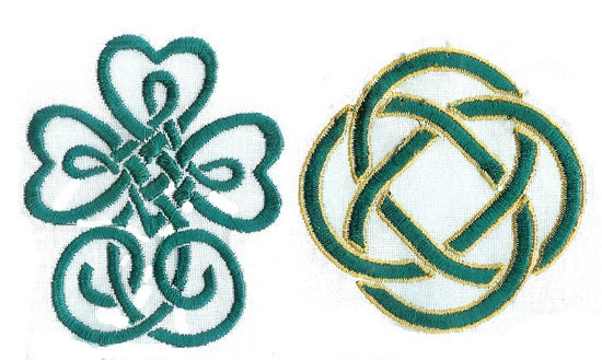 Simple celtic knots machine embroidery designs