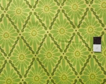 Valori Wells FVW11 Urban Flannels Floral Diamonds Green Cotton FLANNEL Fabric 1 Yard