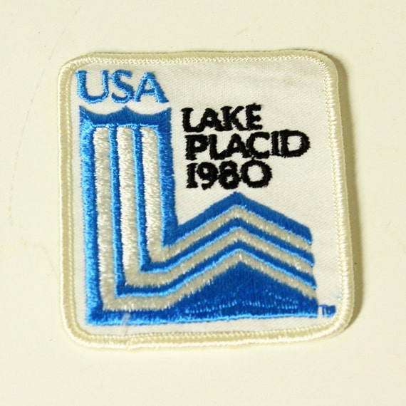 vintage patch - usa lake placid 1980 - olympics