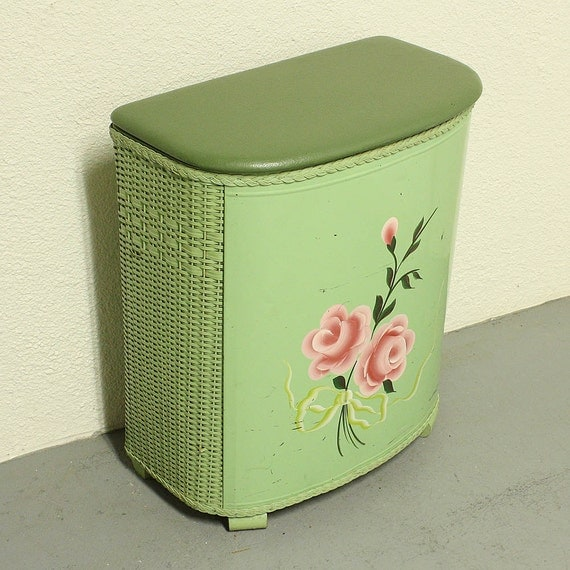 Vintage Clothes Hamper Laundry Hamper Laundry By Oldcottonwood
