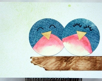 Greeting Card: Bluebirds of Happiness