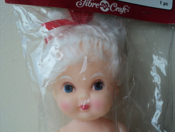 """Reserved - Peggy Vintage Mrs. Claus air freshener doll 5 1/2"""" new Christmas craft"""